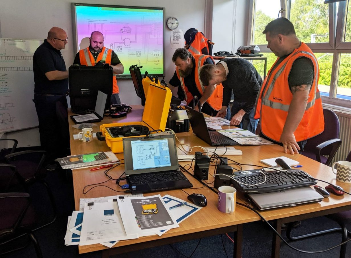 ScotRail staff undergoing training at Corkerhill Depot