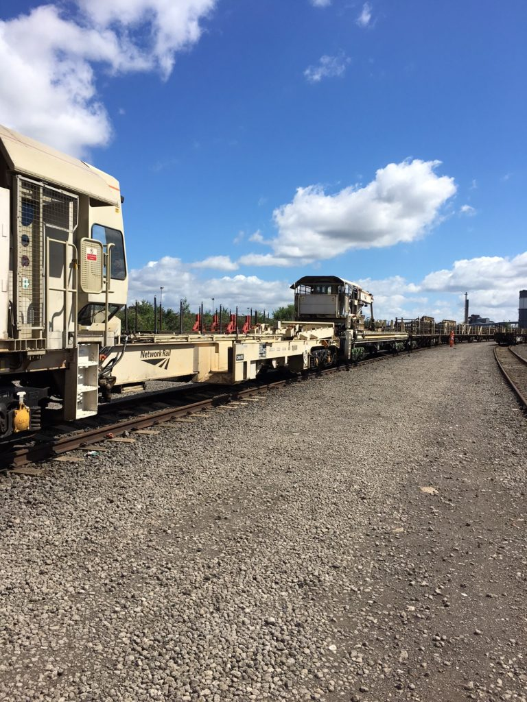 The Rail Delivery Vehicle stabled at Scunthorpe