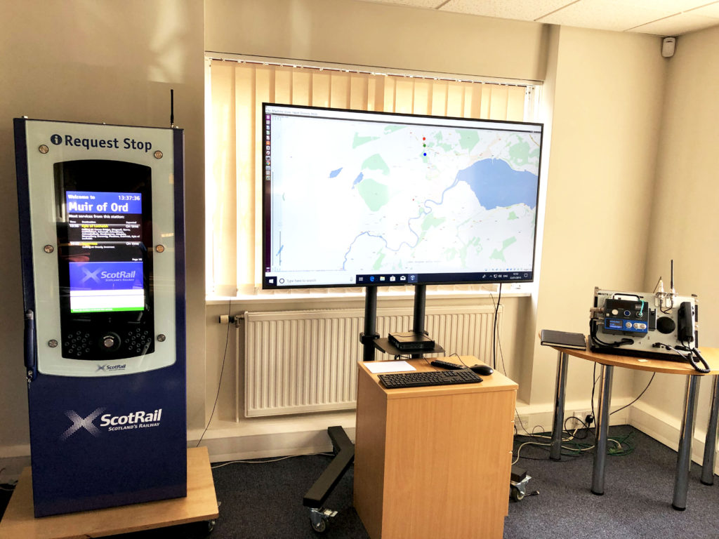 Far North Line Request Stop demonstration unit at Comms Design