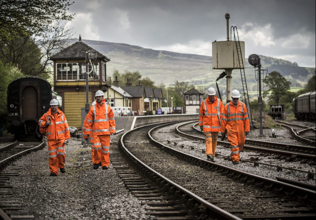 Track workers on the RETB-signalled West Highland Line